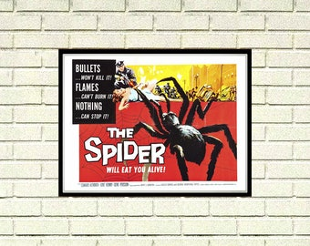 Reprint of the Vintage Horror Movie Poster - The Spider