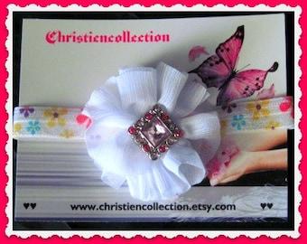 Baby Shabby Chic Foe Elastic hairband customizing welcome