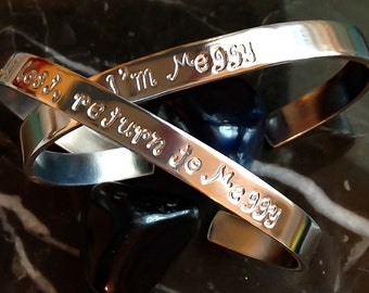 Custom Hand Stamped Bracelet - Stamped Metal Bracelet - Personalized Bracelet Cuff - Your Name, Quote - Custom Stamped Bracelet