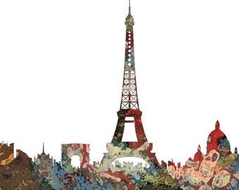 Frühling in Paris Druck der Mischtechnik von Diana Evans