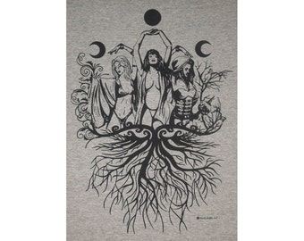 Maiden Mother Crone Wiccan Pagan T-Shirt BL