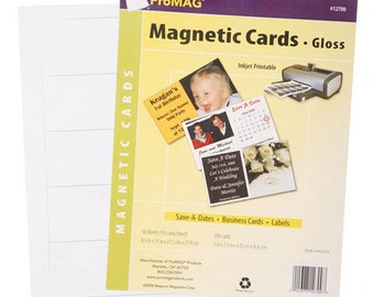 Inkjet Printable Magnet - Business Cards with Glossy Finish - 100 pieces
