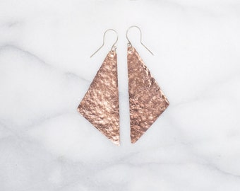 Copper Triangle Earrings