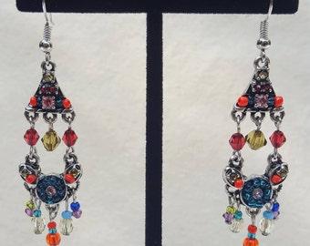 Indian Style Crystal Earrings