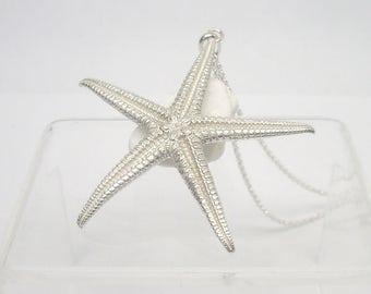 Starfish Pendant - Sterling Silver