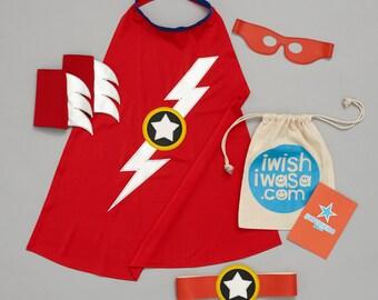 LIGHTENING flash DELUXE superhero costume gift set