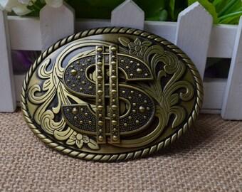 Men's Belt Buckle,Dollar Belt Buckle,Oval Metal Belt Buckle,Retro belt buckle,Best for gift