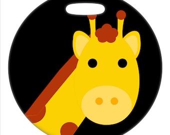 Luggage Tag - Giraffe - 2.5 inch or 4 Inch Round Plastic Tag