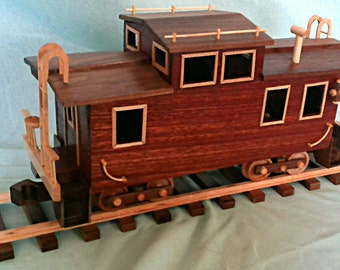 Caboose   Hand crafted  wood -  Mahogany, Walnut, and maple