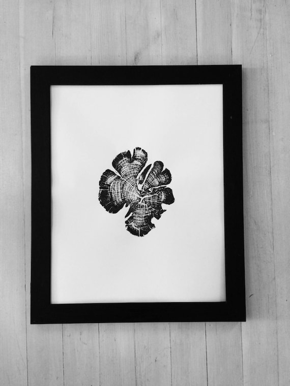 Zion National Park, Tree Ring Print, woodcut Art, National Parks Art, Tree Ring Art Print, Father's Day Gifts, Best Dad Gifts, Gifts for Dad