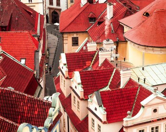 "Prague Photography, Prague Architecture, ""Sea of Red"""