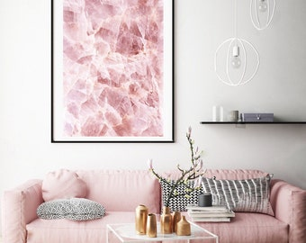 Mineral Photography - (Print #858)  ROSE Quartz -  Fine Art Print - Two Paper Choices- Mineral Geode Agate Crystal Decor