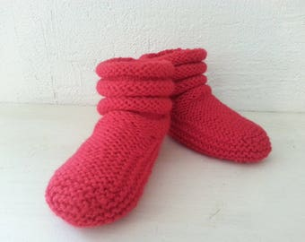 Slippers socks children T 26-27 color red