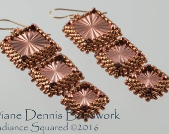 Radiance Squared Earrings Kit in Metalic Copper
