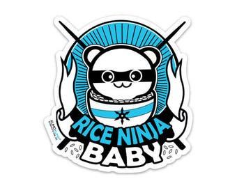 Rice Ninja Baby Sticker