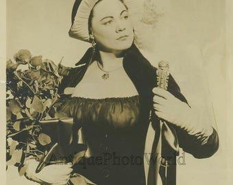 Renata Tibaldi opera singer Tosca antique music photo