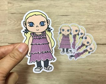 LUNA LOVEGOOD 2- Hand Drawn Die Cut - Chibi