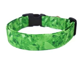 Green Dog Collar, Crystal Dog Collar, Pet Accessories, Modern Dog, Adjustable Dog Collar, Designer Dog Collar, Dog Accessory, Emerald Green