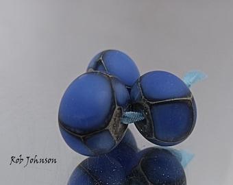 Blue Dragons, Lampwork Beads, SRA, UK