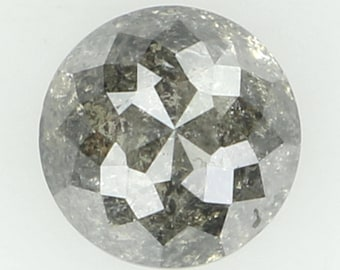 Natural Loose Diamond Round Rose Cut Grey Color I2 Clarity 4.70X3.20 MM 0.62 Ct N5459