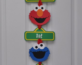 Sesame Street Door Sign, Sesame Street Party