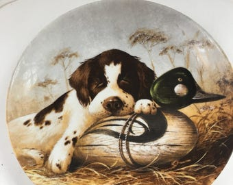 Edwin M. Knowles - Dog Tired- The Soringer Spaniel Collectir Plate