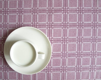 Tablecloth purple white checkered Modern decor Scandinavian Design , runner , napkins , curtains , pillows available, great GIFT