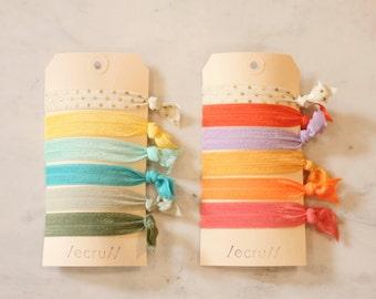 Set of 6 Elastic Hair Ties- Choice of Colors