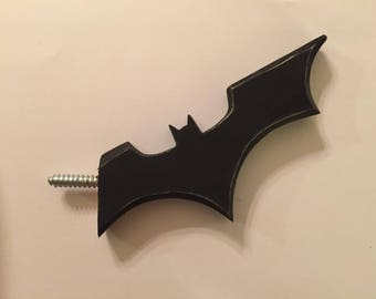 Batman Inspired Coat Hanger - Screw on Dark Knight Themed Batarang Wall Hanger