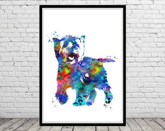 Cairn Terrier, watercolor Cairn Terrier, Cairn Terrier print, terrier, terrier print, watercolor terrier, dog print, dog art, dog