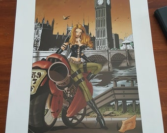 pin up art print signed and numbered steampunk