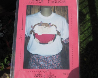 """Vintage 90s applique pattern """"Little Debbie"""" by Applikays watermelon quilting sewing"""