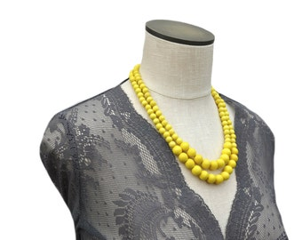 yellow necklace / yellow beaded necklace / colorful necklace / yellow bridesmaid necklace / yellow statement necklace / yellow beads