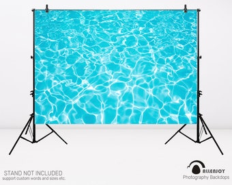 Ocean sea ripple summer beach swimming pool photography backdrops sea party photo studio booth background newborn baby shower,AEC-00059