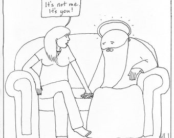 Breaking Up With God CARTOON