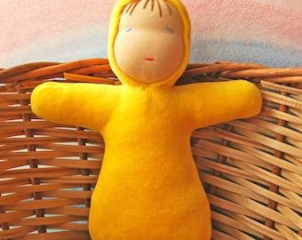 Waldorf doll Waldorf first doll Waldorf baby Steiner doll Sleeping doll Waldorf toys Waldorf education German doll Cuddle doll Doll bedding