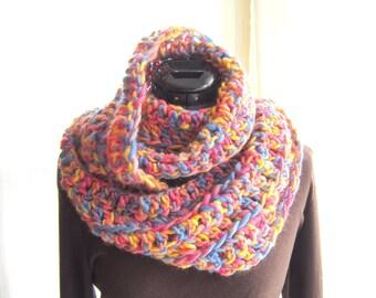 Easy Loop Scarf Crochet Pattern Tutorial, Crochet Scarf Pattern, Instant Download file