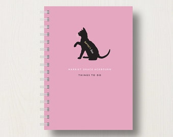 Personalised Cat Lover's Journal or Notebook