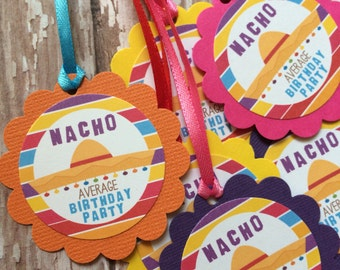 Nacho Mexican Theme Favor Tags