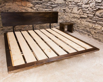 Free Shipping! Manhattan Loft Floating Platform Bed from Reclaimed Wood