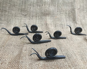 Fredrick the Snail,  hand forged steel, blacksmith made