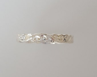 Silver Art Nouveau Style Scroll Ring