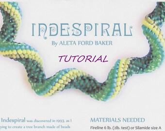 Indespiral Design Tutorial Spiral Peyote Beading Instant Download PDF