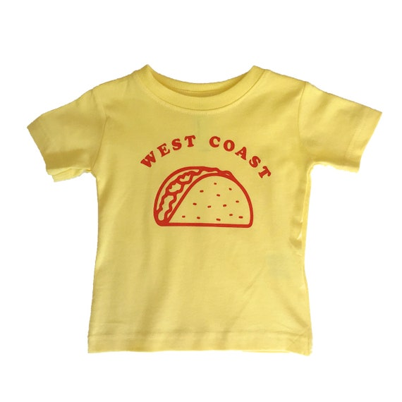 WEST COAST TACO Toddler Tee - Yellow