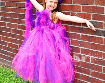 CHESHIRE CAT Tutu Dress - Alice In Wonderland Costume - Tea Party tutu - Cheshire Cat Pageant Costume - Pageant Dress - Outfit of Choice