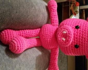 Piggy crochet soft toy