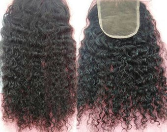 3B 3C 4B 4C Kinky Curly Closure, Afro Kinky Curly Closure, Weave, Extensions, Human Hair Extensions