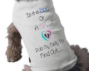 Baby Gender Reveal Dog T-Shirt - It's a Boy Dog Shirt - Pregnancy Announcement Pet Shirt - Pet Graphic Tee