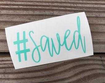 Set of 2 #Saved & John 3:16 decals