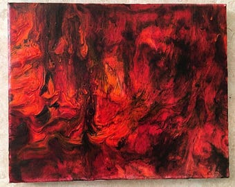 Abstract Fire Acrylic Painting